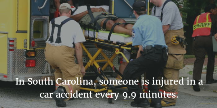 common car accident injuries - South Carolina