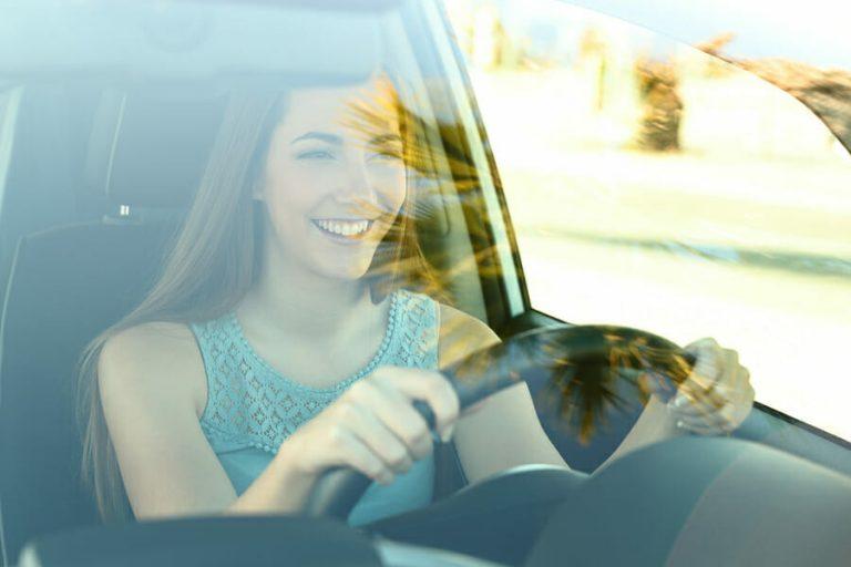 Teen Driving Girl