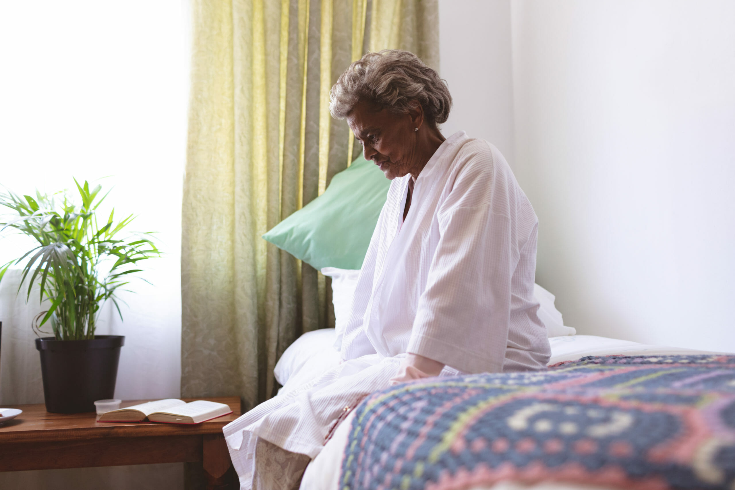 African-american black woman in nursing home