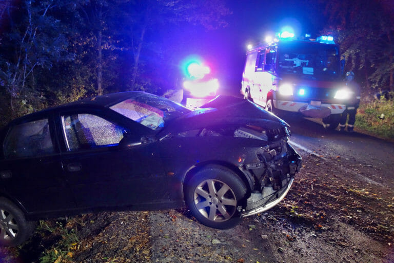 Auto Accident at Night