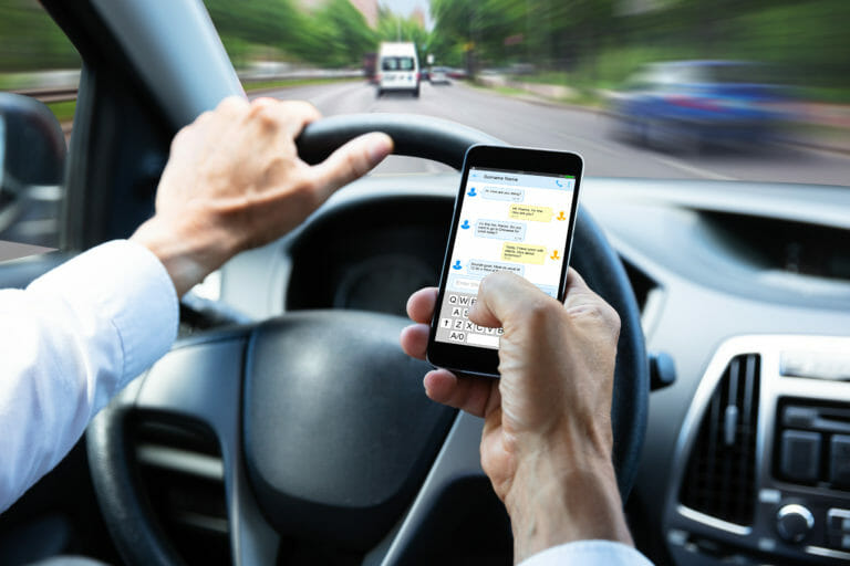 Distracted Driver Texting