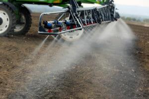 Tractor Spraying Paraquat